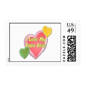 I Love Papa Bear Postage Stamp