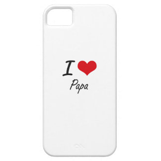 I Love Papa iPhone 5 Covers