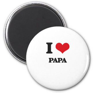I Love Papa Refrigerator Magnet