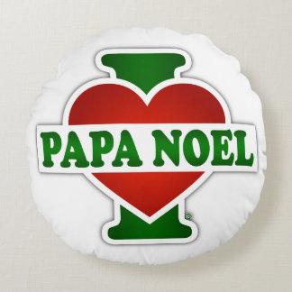 I Love Papa Noel Round Pillow