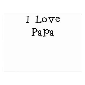I Love Papa.png Postcard