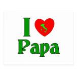 I Love Papa. Postcard