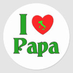 I Love Papa. Round Stickers