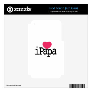 I Love Papa Skin For iPod Touch 4G