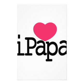 I Love Papa Stationery
