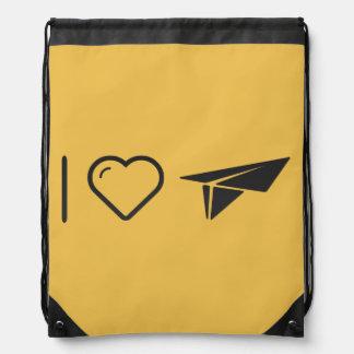 I Love Paper Airplane Backpacks