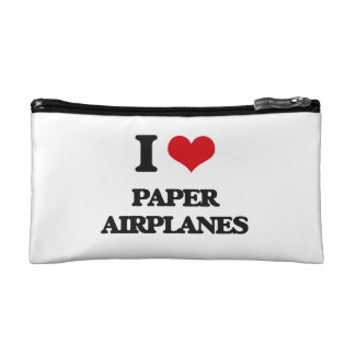 I Love Paper Airplanes Cosmetics Bags