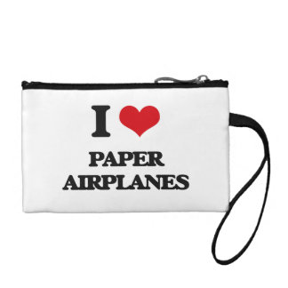 I Love Paper Airplanes Coin Wallets
