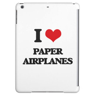 I Love Paper Airplanes Cover For iPad Air