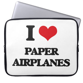 I Love Paper Airplanes Laptop Sleeves