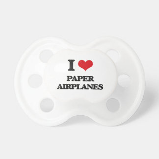 I Love Paper Airplanes BooginHead Pacifier