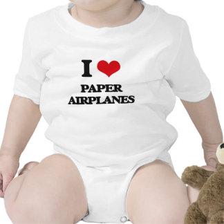 I Love Paper Airplanes Bodysuit