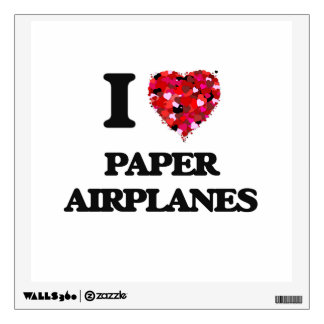 I Love Paper Airplanes Wall Skins