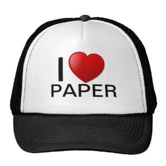 I Love paper hat! Trucker Hat