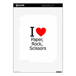 I Love Paper Rock Scissors iPad 2 Skins