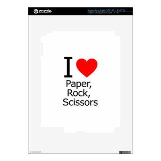 I Love Paper Rock Scissors iPad 3 Decals