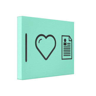 I Love Papers Canvas Print