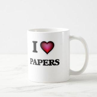 I Love Papers Coffee Mug