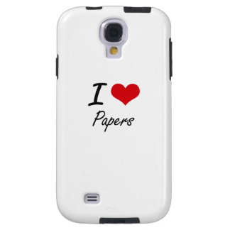 I Love Papers Galaxy S4 Case