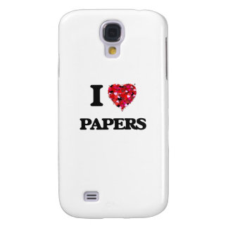 I Love Papers Galaxy S4 Covers