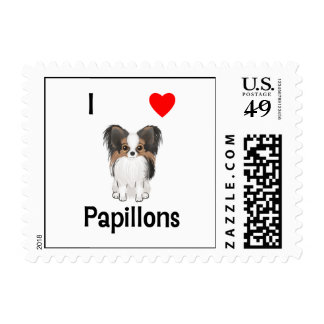 I Love Papillons (picture) Postage