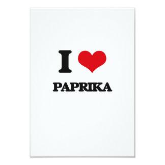 """I Love Paprika 3.5"""" X 5"""" Invitation Card"""