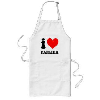 I love paprika long apron