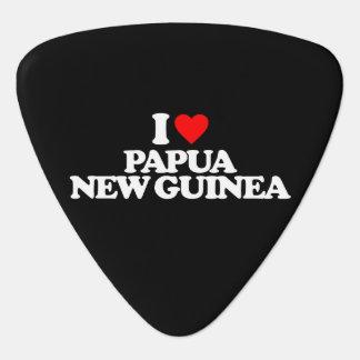 I LOVE PAPUA NEW GUINEA GUITAR PICK