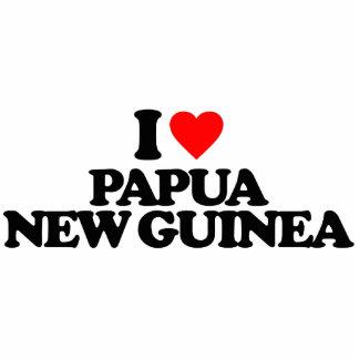 I LOVE PAPUA NEW GUINEA PHOTO SCULPTURES