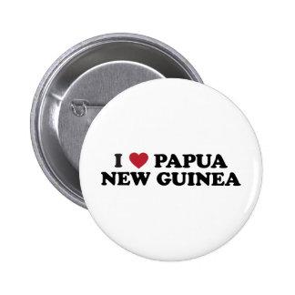 I Love Papua New Guinea Pinback Button