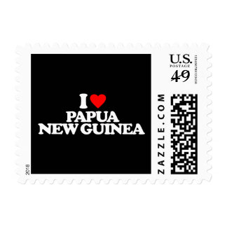 I LOVE PAPUA NEW GUINEA POSTAGE STAMPS