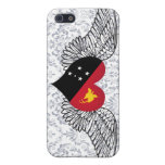 I Love Papua New Guinea -wings Cover For iPhone 5