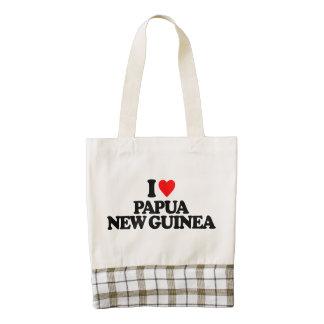 I LOVE PAPUA NEW GUINEA ZAZZLE HEART TOTE BAG