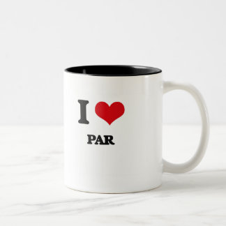 I Love Par Coffee Mugs