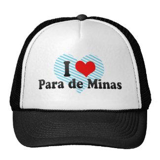 I Love Para de Minas, Brazil Mesh Hats