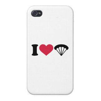 I love Parachute Skydiving Cover For iPhone 4