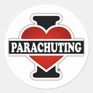 I Love Parachuting Classic Round Sticker