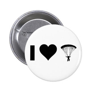 I Love Parachuting Pinback Button