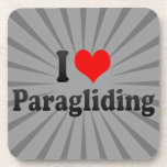 I love Paragliding Drink Coaster