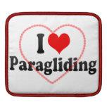 I love Paragliding iPad Sleeves