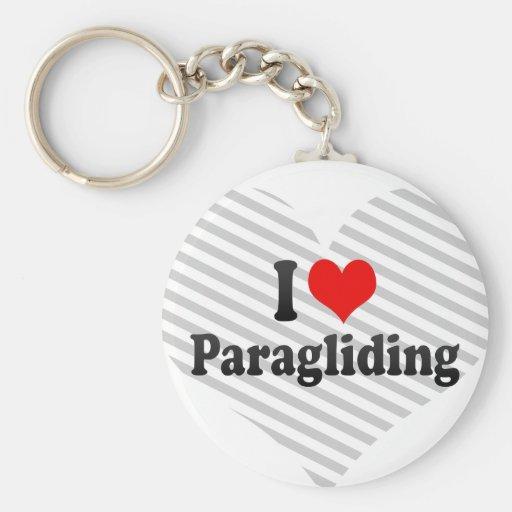 I love Paragliding Key Chain