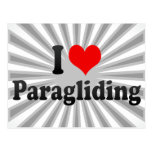 I love Paragliding Postcard