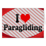 I love Paragliding Stationery Note Card