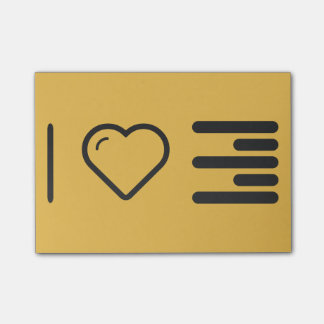 I Love Paragraph Indentions Post-it® Notes