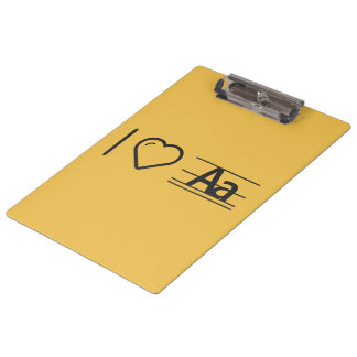 I Love Paragraph Letters Clipboard