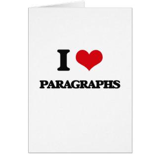 I Love Paragraphs Card
