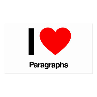 i love paragraphs Double-Sided standard business cards (Pack of 100)