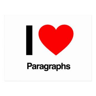 i love paragraphs postcard