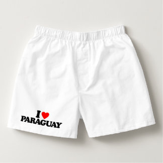 I LOVE PARAGUAY BOXERS