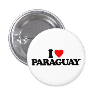 I LOVE PARAGUAY 1 INCH ROUND BUTTON